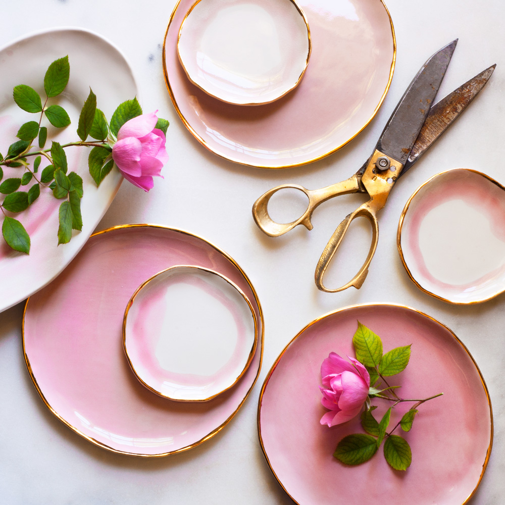 I work to design and make tableware special enough to accompany the heartfelt gatherings that make up some of our ... & Suite One Studio handmade tableware line | Style by Tanya