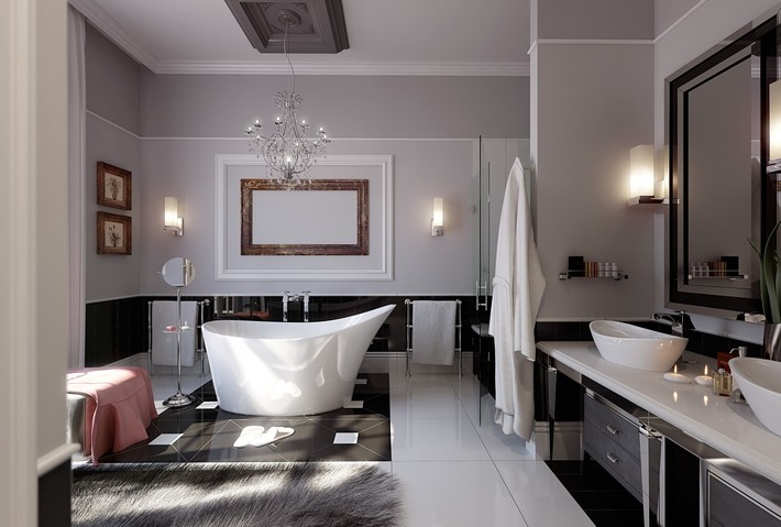 modern-glamorous-bathroom-stainless-chandelier-inspiration